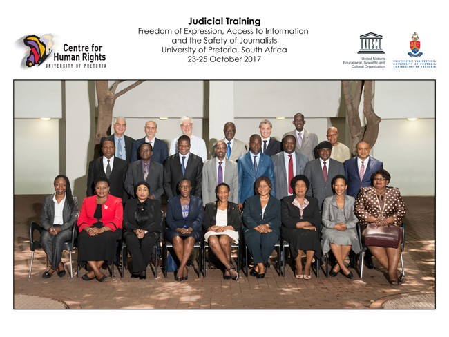 Centre for Human Rights and UNESCO presents training for