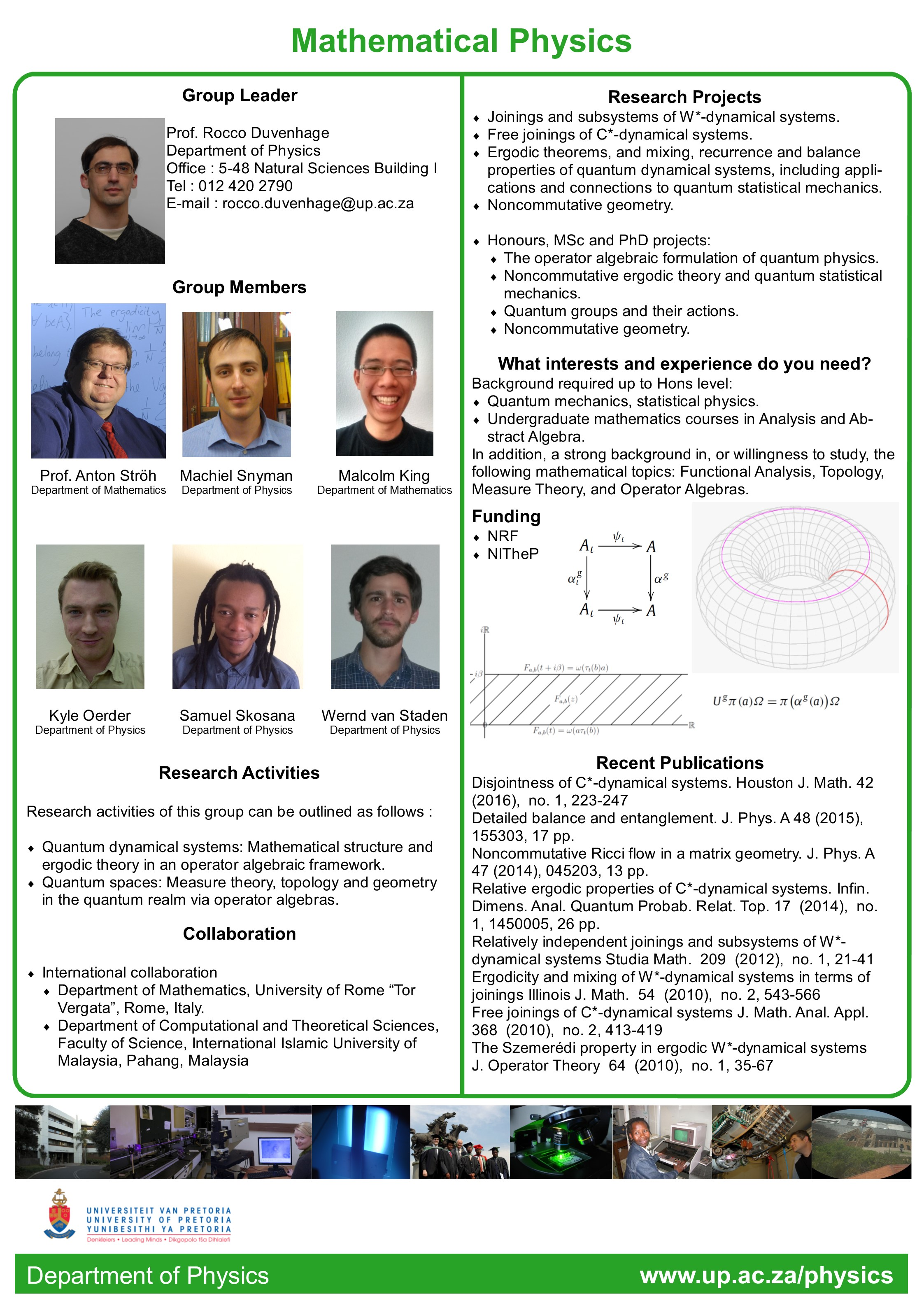 Mathematical physics research poster