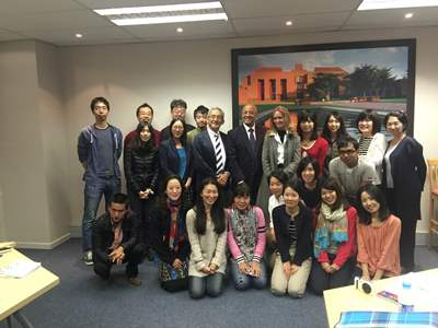 Prof Harris GIBS lecture to Japanese graduate students and business people from Hitotsubashi University