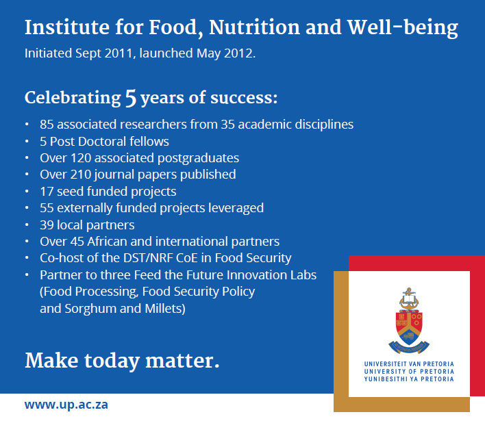 Institute for Food, Nutrition and Well-being | University of Pretoria