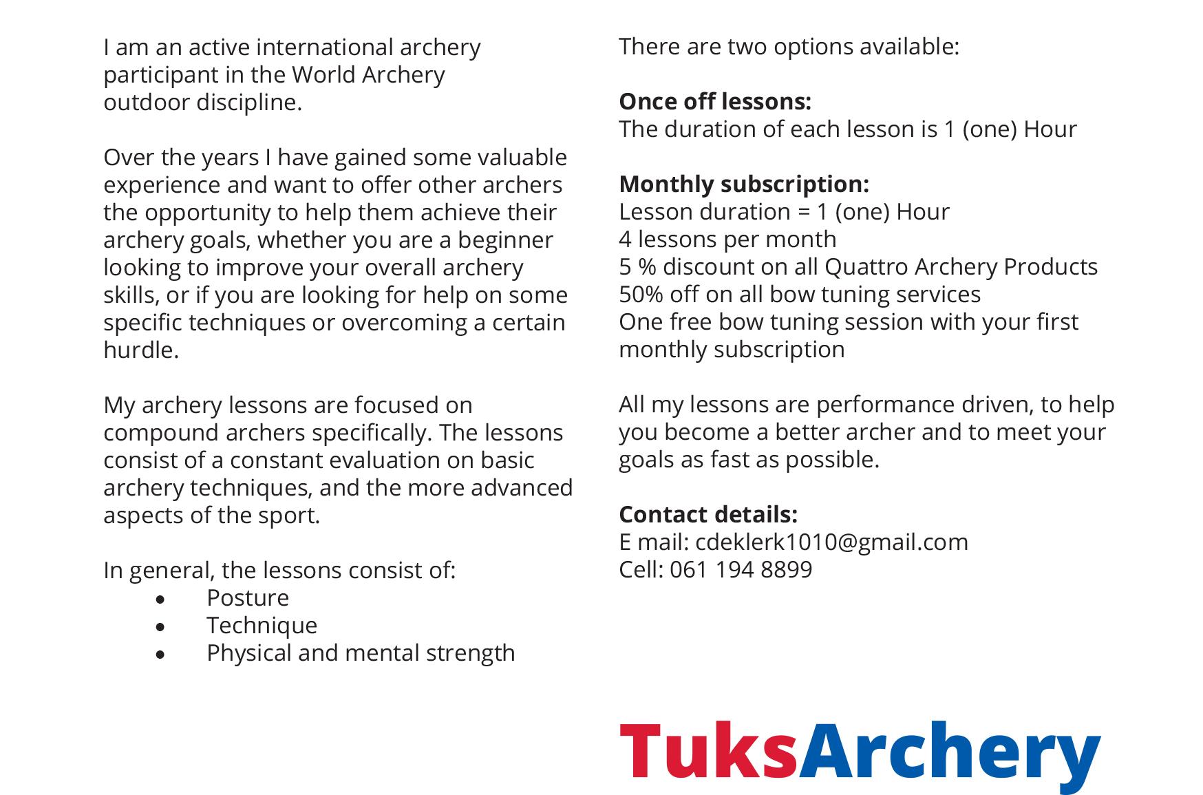 TuksArchery | University of Pretoria