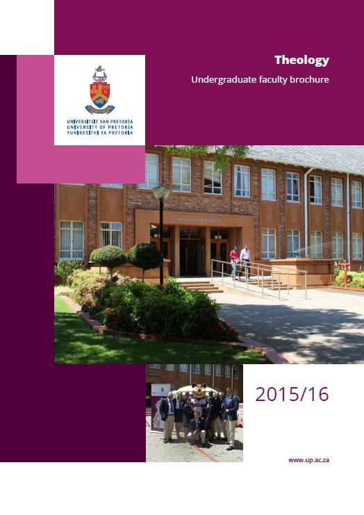 brochures offered by medunsa