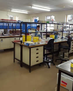 Bacteriology laboratory