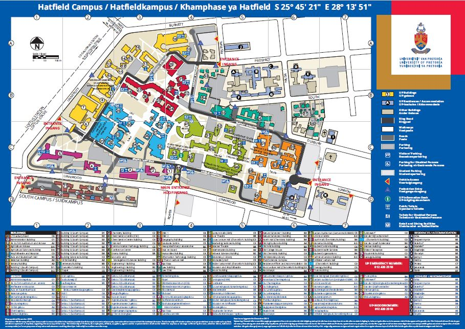 up main campus map General Information Article University Of Pretoria up main campus map