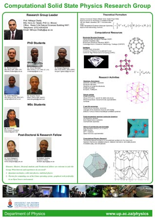 Computational solid state physics research group poster