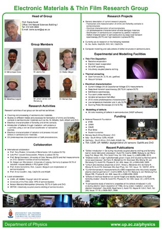 Electronic materials and thin film research group poster