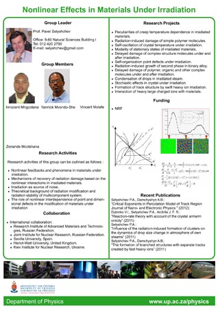 Complex systems research group poster