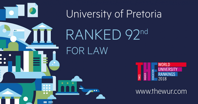 ​The highest ranked law faculty in Africa and South Africa -  The 2018 Times Higher Education World University Rankings