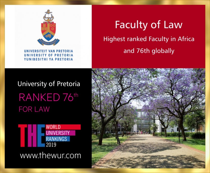 ​The highest ranked law faculty in Africa and Top 80 in the world for law  -  The 2019 Times Higher Education World University Rankings
