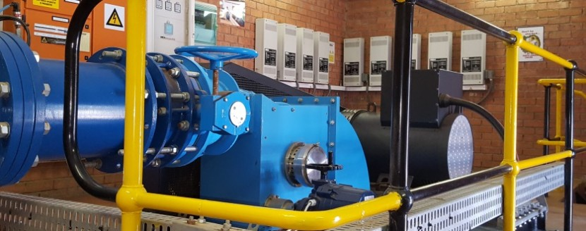 Conduit hydropower plant constructed in Bloemfontein by Tukkies