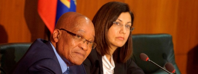 President Jacob Zuma and Professor Cheryl de la Rey